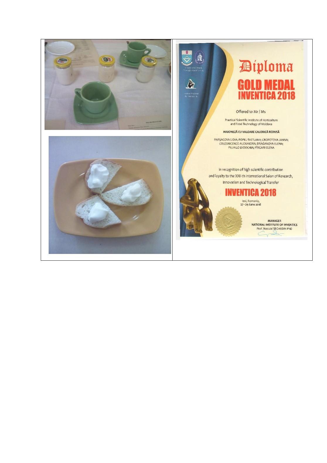 Elaborarea tehnologiilor maionezelor (sosurilor) pe baza uleiurilor cu conţinut echilibrat de acizi graşi polinesaturaţi