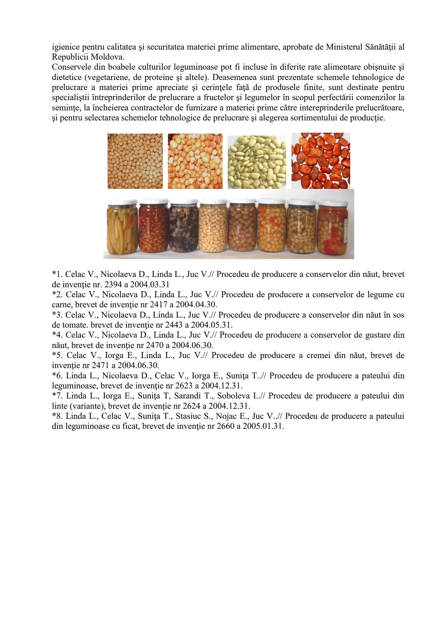 Utilizarea boabelor culturilor leguminoase la fabricarea conservelor